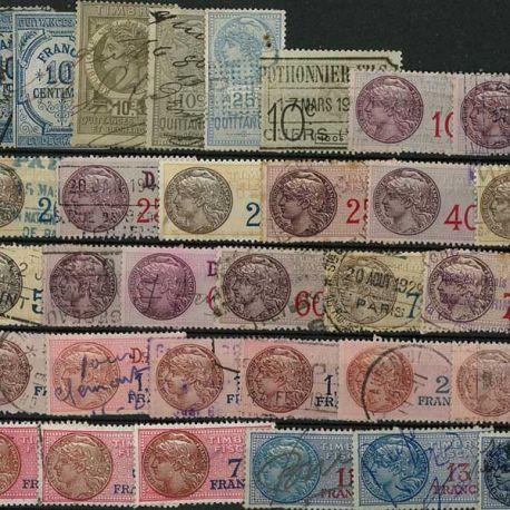Collection de timbres France oblitérés Sociaux Fiscaux