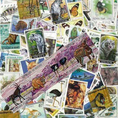Tiere: 100 verschiedene Briefmarken