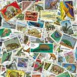 Used Prehistoric animal stamp collection