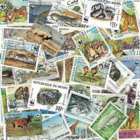 Animaux Wwf : 100 timbres différents