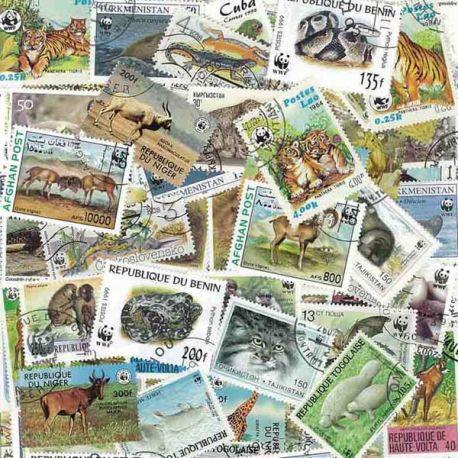 Tiere Wwf: 100 verschiedene Briefmarken