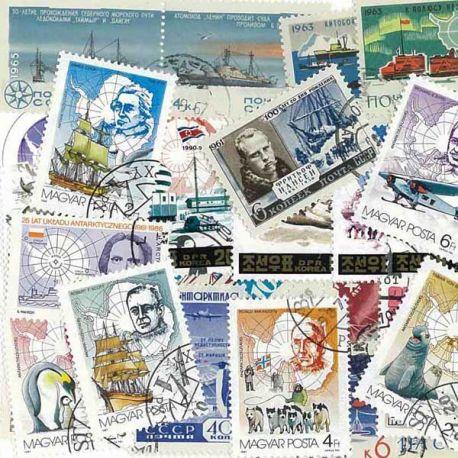 Antarctique : 25 timbres différents