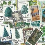 Collection de timbres Arbres oblitérés