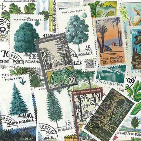 Bäume: 100 verschiedene Briefmarken