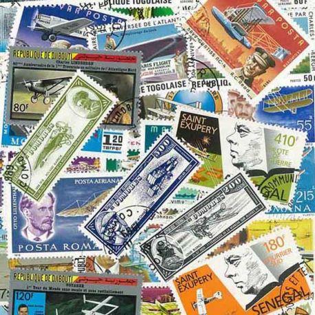 Flieger: 100 verschiedene Briefmarken