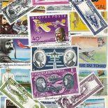 Collection de timbres Aviateurs Francais oblitérés