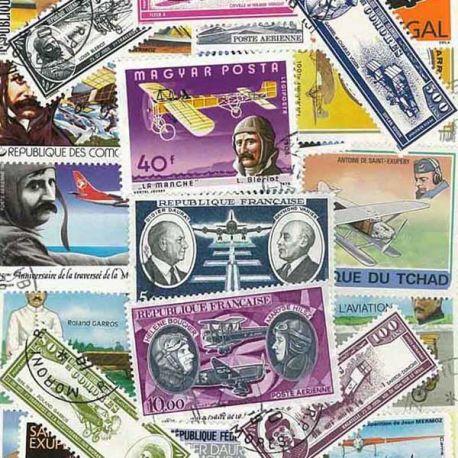 Französischer Flieger: 25 verschiedene Briefmarken