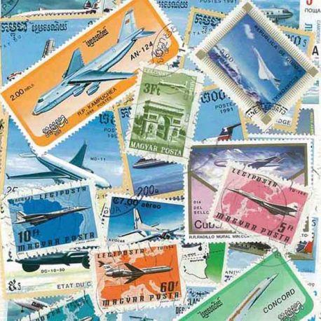 Flugzeuge: 50 verschiedene Briefmarken