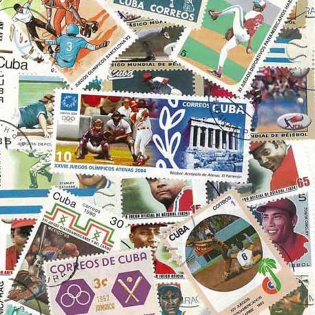 Collection de timbres Base Ball oblitérés