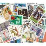Collezione di francobolli basket cancellati