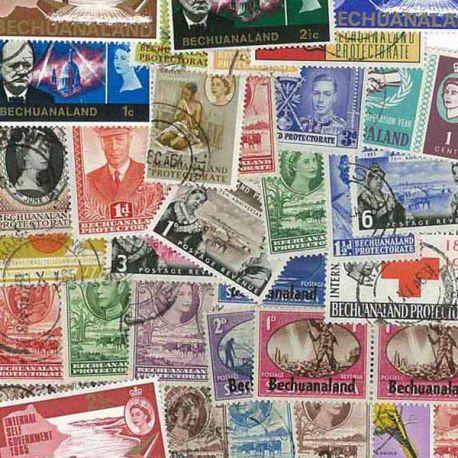 Betschuanaland - 25 verschiedene Briefmarken