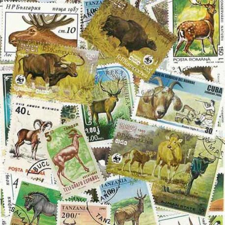 Collection Timbres Animaux Collection de timbres Betes A Corne oblitérés à partir de 2,50 €