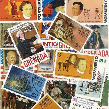 Collection de timbres Bicentenaire Des Usa oblitérés