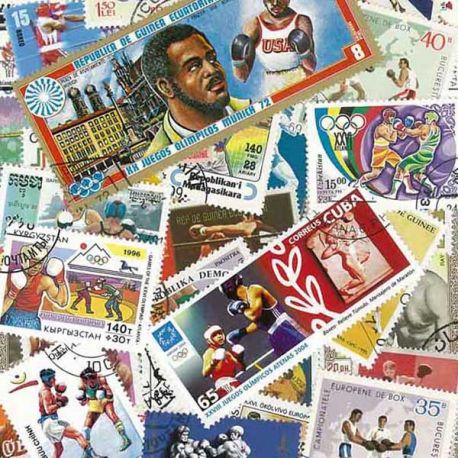 Collection de timbres Boxe oblitérés