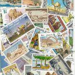 Collezione di francobolli Camelidae cancellate