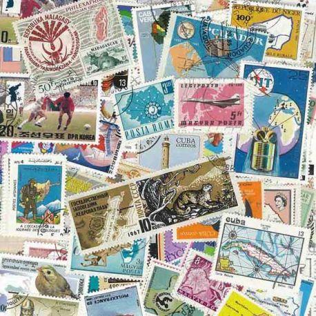 Collection de timbres Cartographie oblitérés