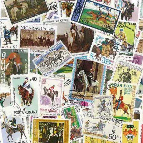 Collection de timbres Cavaliers oblitérés