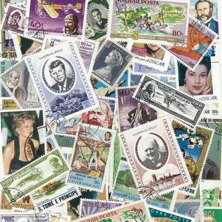 Collection de timbres Celebrites oblitérés
