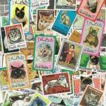 Stamp collection used Cats