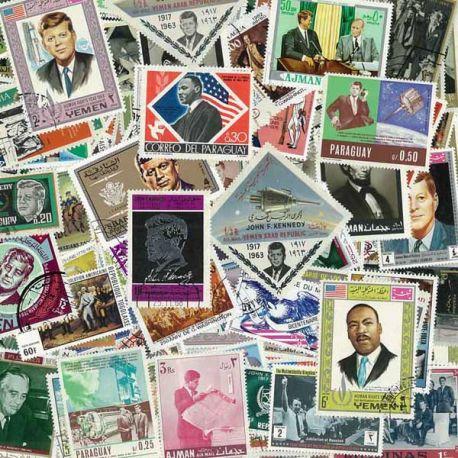 Collection de timbres Chefs D'Etats oblitérés