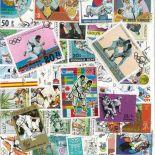 Collezione di francobolli arti marziali cancellate