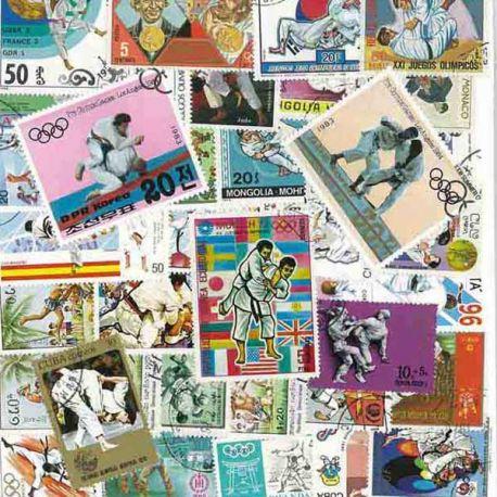 Martial Arts: 25 verschiedene Briefmarken