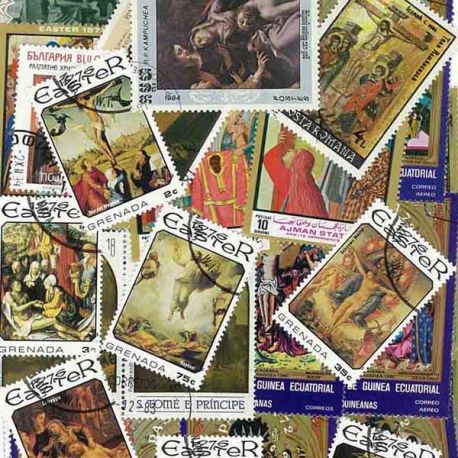 Chemin De Croix : 25 timbres différents