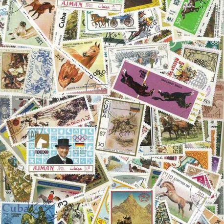 Pferde: 100 verschiedene Briefmarken