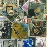 Collection de timbres Churchill oblitérés