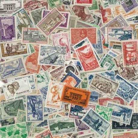 Kolonien vor der Unabhängigkeit Rf - 100 verschiedene Briefmarken
