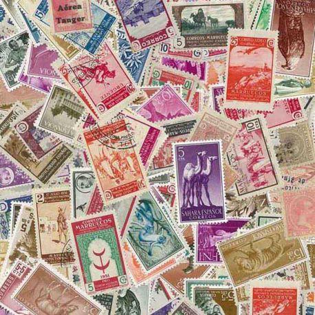 Spanien Kolonien - 100 verschiedene Briefmarken