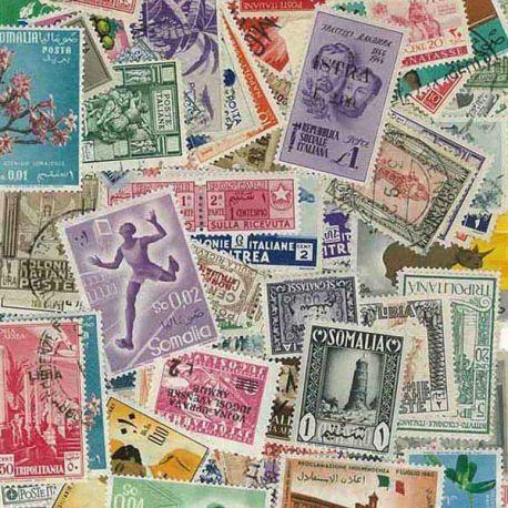 Italien Kolonie - 25 verschiedene Briefmarken