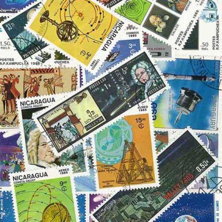 Collection de timbres Halley oblitérés