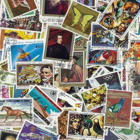 Comores - 25 timbres différents