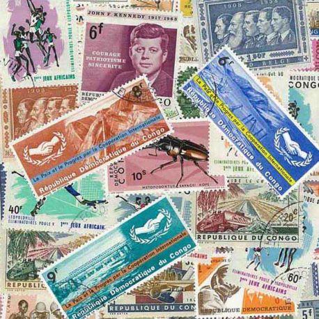 Belgisch-Kongo - 25 verschiedene Briefmarken