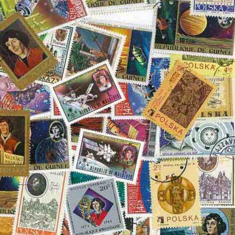 Copernic: 25 verschiedene Briefmarken