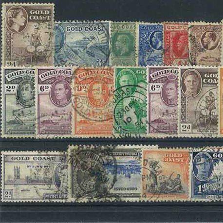 Collection de timbres Cote De L Or oblitérés