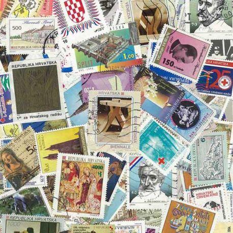 Croatie (Serbie) - 25 timbres différents