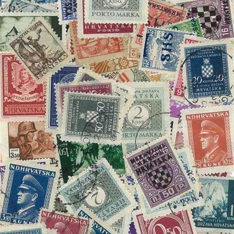 Kroatien vor 1945-25 verschiedene Briefmarken
