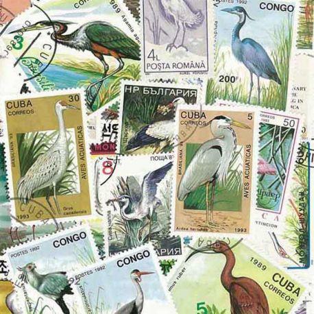 Watvögel: 25 verschiedene Briefmarken