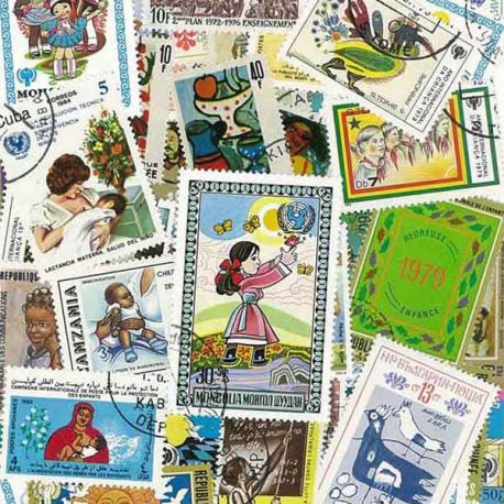 Collection de timbres Enfance oblitérés