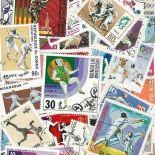 Collection de timbres Escrime oblitérés