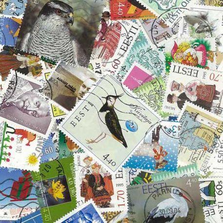 Estland - 25 verschiedene Briefmarken