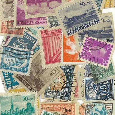 Estonie - 25 timbres différents
