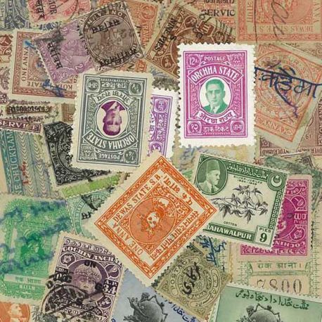 Indian States - 100 different stamps