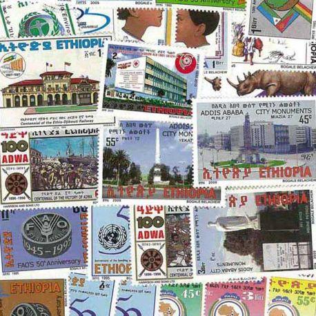 Äthiopien - 25 verschiedene Briefmarken