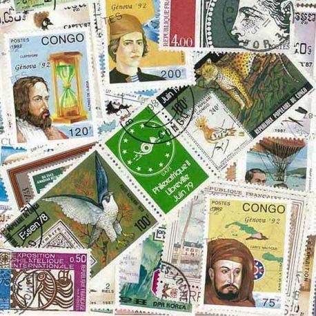 Expositions Philateliques : 100 timbres différents