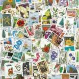 Collection de timbres Flore oblitérés