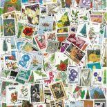 Collection de timbres Flore oblitérés