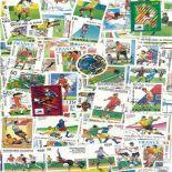 Collezione di francobolli calcio Francia 98 cancellati